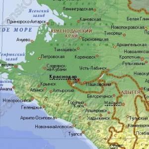 Интерактивная карта Краснодарского края с историей городов и станиц